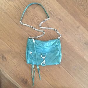 Rebecca Minkoff teal turquoise crossbody bag purse